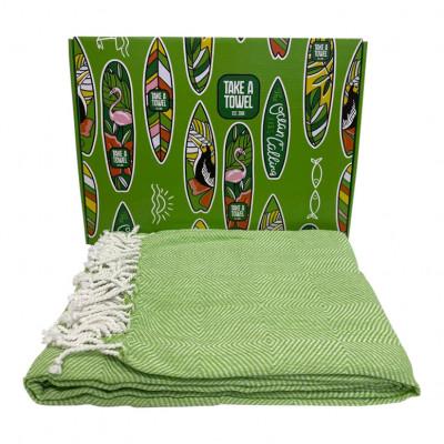 Hamam-Tuch in Geschenkbox Take A Towel | Grün