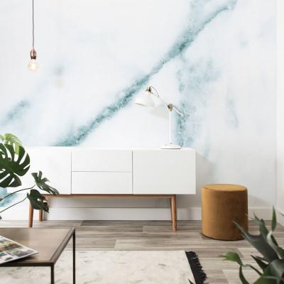 Wallpaper | Marble White & Blue