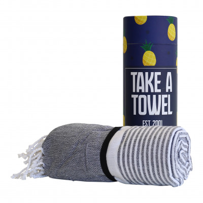 Hamam-Tuch Take A Towel | Dunkelblau