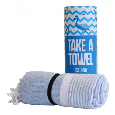 Hamam-Tuch Take A Towel | Hellblau