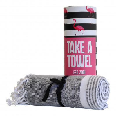Hamam-Tuch Take A Towel | Schwarz