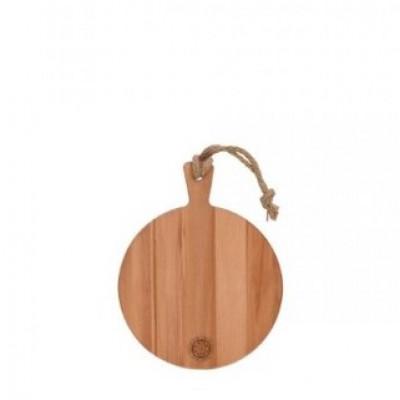 Servierplatte Buchenholz Rund 25 cm | Braun