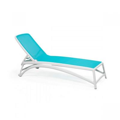 Liegestuhl Atlantico | Weiß & Blau