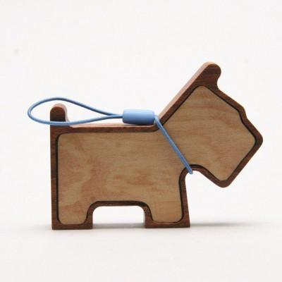 Winziger Lautsprecher für Haustiere aus Holz