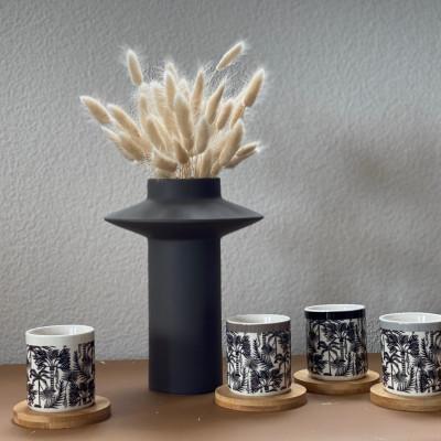 Mugs and Coasters Palmeraie | Set of 4
