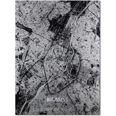 Metall-Wanddekoration | Stadtplan | Brussels