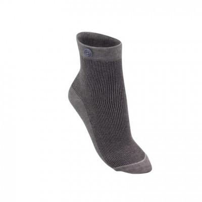 Glitzer-Rippenfrau-Socken   Grau