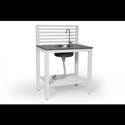Aussenküche mit Wasserhahn und Spülbecken Bellac | Weiss