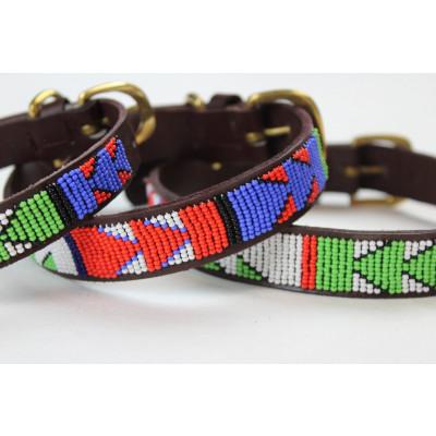 Yucatan Dog Collar Small | Brown Leather