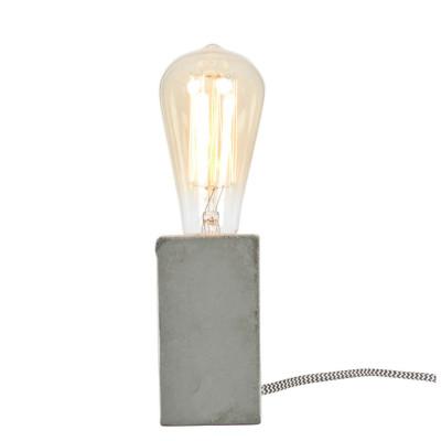 Table Lamp Concrete Block 6x6x11 | Grey