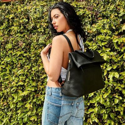 Leather Bag Fold N Go | Black