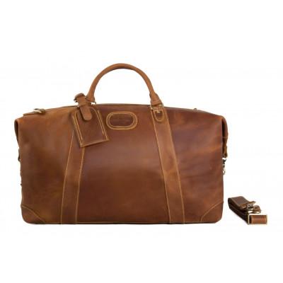 Travel Bag | Vintage Leather Brown