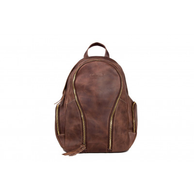 Schoolbag | Brown Leather