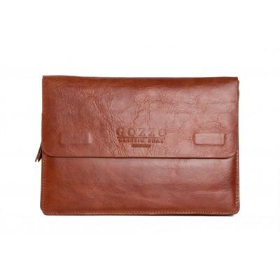 Clutch bag | Vintage Brown Leather