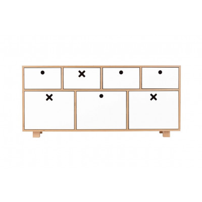 Sideboard Niedrig | Weiß