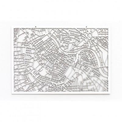 Map Vienna   White