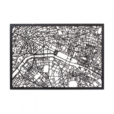 Map Paris   Black