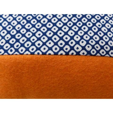 Esperanza-Kissen blauer Fleck/orange