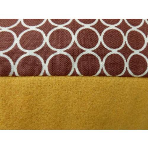 Esperanza cushion brown dot/yellow