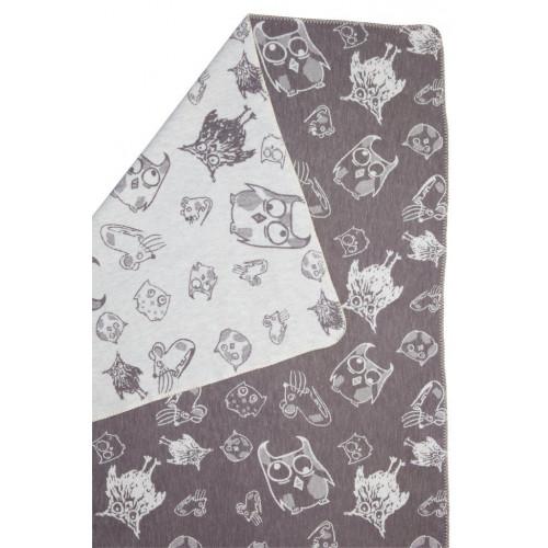 Blanket Owls & Mouses Grey/Natural