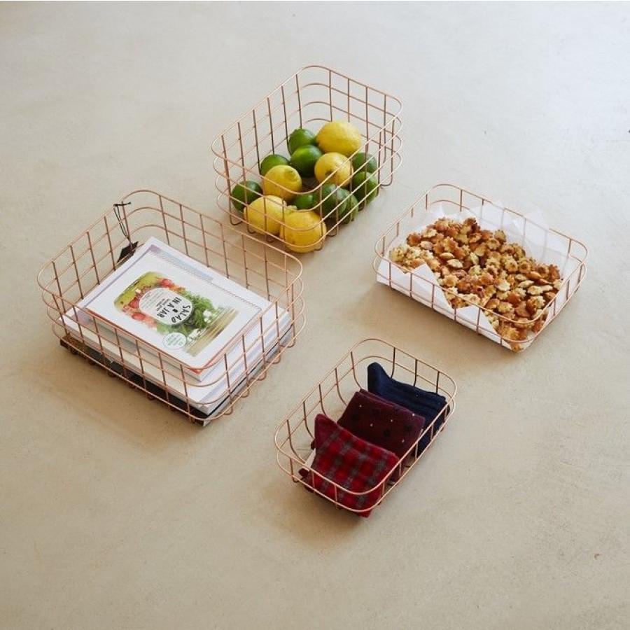 Simply Basket Black Low | Set/2
