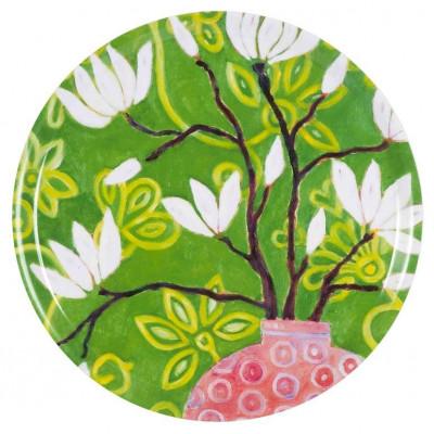 Tablett In Bloom Grün