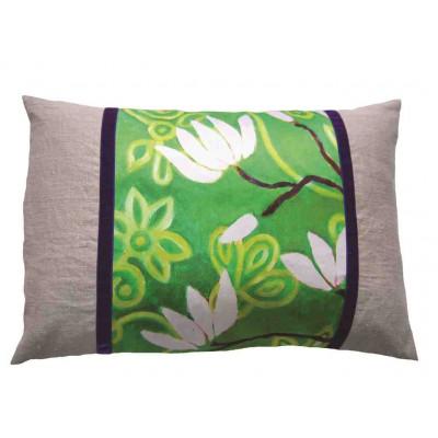 Rechteckiges Design-Kissen In Bloom Grün