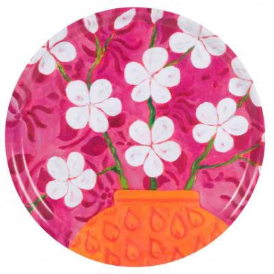 Tablett In Bloom Rosa
