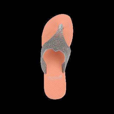 Slippers India | Salmon & Grey