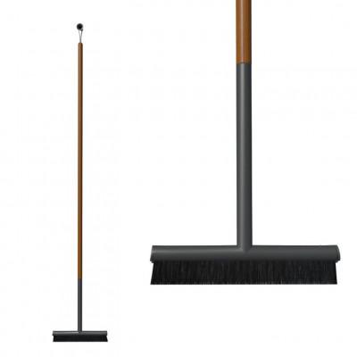 Indoor-Besen Anthrazit / Teak 40 cm