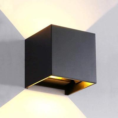 Wandlampe für innen und außen   Cube
