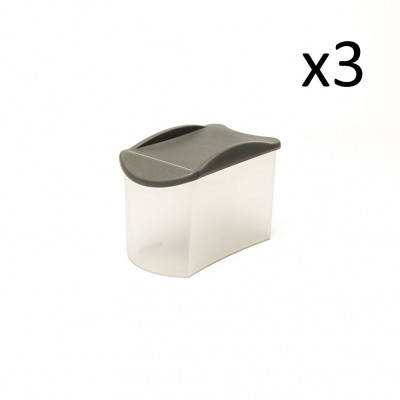 3er-Set Sprinkler Box Store & Pour 800 ml   Grau