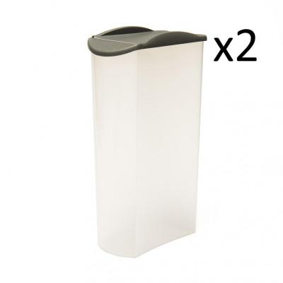 2er-Set Sprinkler Box Store & Pour 2500 ml   Grau