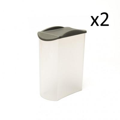 2er-Set Sprinkler Box Store & Pour 1700 ml   Grau