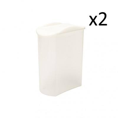 2er-Set Sprinkler Box Store & Pour 1700 ml   Weiß