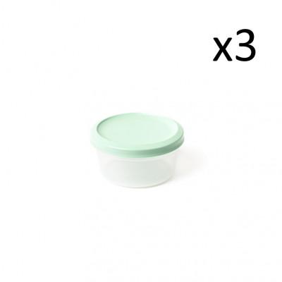 3er-Set Aufbewahrungsboxen Vacutop Rond 250 ml