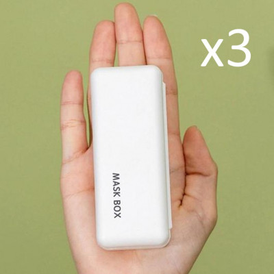 3er-Set Maskenbox | Weiß