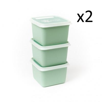 6er-Set Boxen Alaska 750 ml   Minzgrün