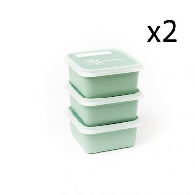 6er-Set Boxen Alaska 500 ml   Minzgrün