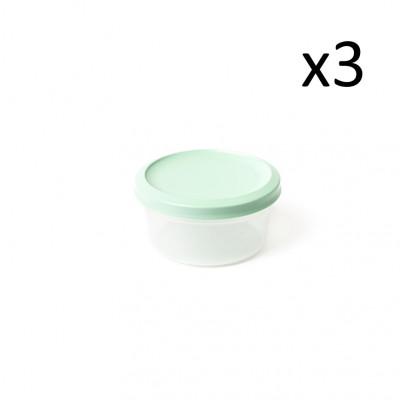 3er-Set Aufbewahrungsboxen Vacutop Rond 500 ml