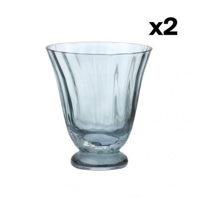 2er-Set Wasserglas Trellis | Topaz