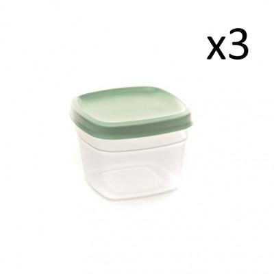 3er-Set Aufbewahrungsboxen Vacutop 750 ml