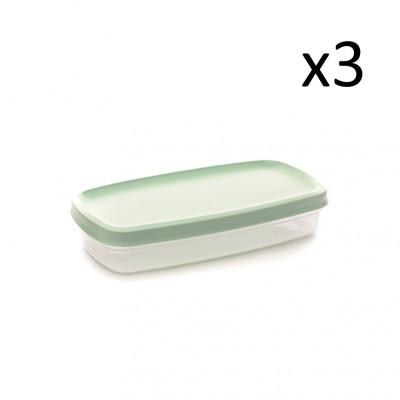 3er-Set Aufbewahrungsboxen Vacutop 850 ml
