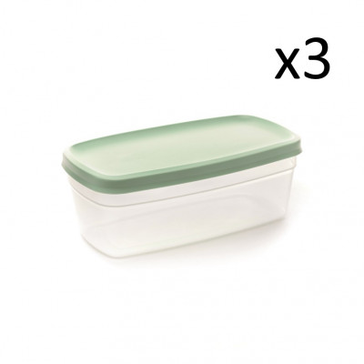 3er-Set Aufbewahrungsboxen Vacutop 1900 ml