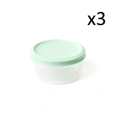 3er-Set Aufbewahrungsboxen Vacutop Rond 1700 ml