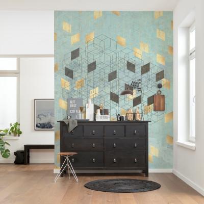 Wandbild Plaqué Or | 200 x 280 cm