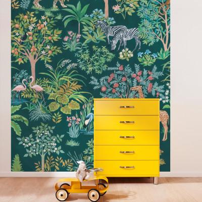 Wandbild Happy Jungle | 200 x 280 cm