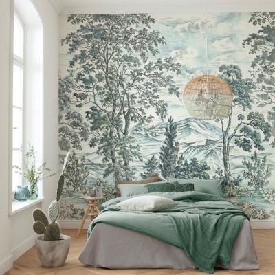 Wandbild Highland Trees | 250 x 280 cm