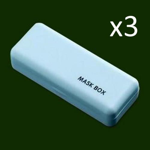 3er-Set Maskenbox   Hellblau
