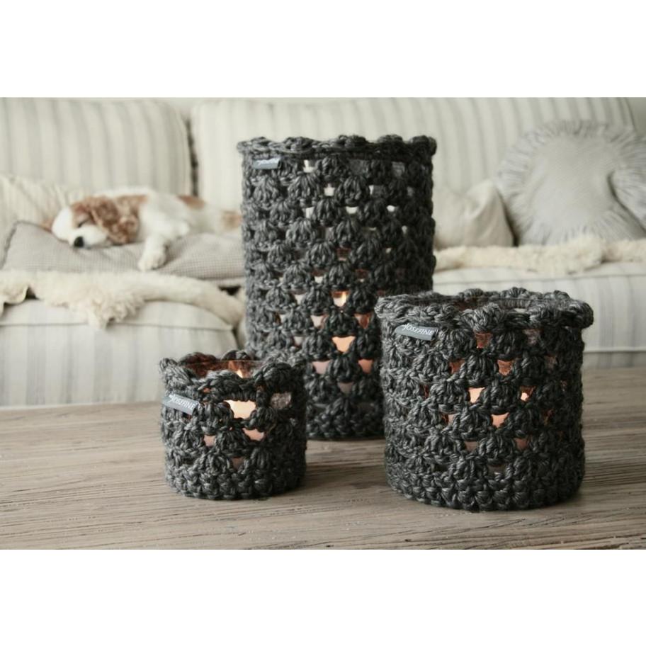 Grey Wool Lanterns